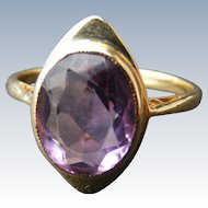 Art Deco Natural Amethyst Ring