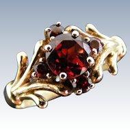 Antique Garnet Cluster Ring