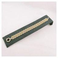 Estate 14 Karat Gold Link Bracelet