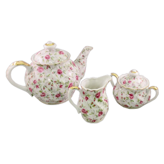 Lefton Rose Chintz Tea Set