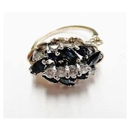 Ladies Fine Quality Estate Sapphire and Diamond Ring