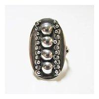 Ladies Oval Beaded Ring