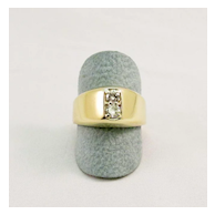 Vintage Men's Double Diamond Ring