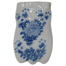 Japanese Antique Blue and White Seto 瀬戸 Porcelain Tsuri- kabin
