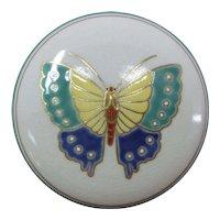 Japanese Vintage Awata-yaki Kyoto Satsuma Porcelain Butterfly Kogo Famous Artist Tamayai Kosai 湖西