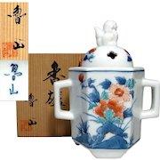 Fine Japanese Arita- Kakiemon Porcelain Koro or Censer