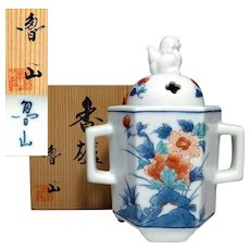 Fine Japanese Arita- Kakiemon Porcelain Koro or Censer