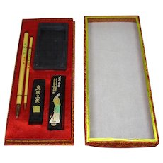 Chinese Vintage Set of Calligraphy Tools