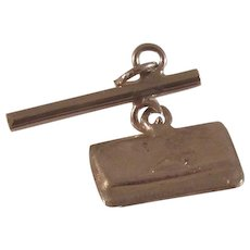 Sterling Silver Charm of a Japanese Tobacco Pouch and Pipe Holder