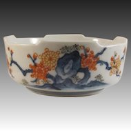 Japanese Vintage Arita- Kakiemon 柿右衛門 Porcelain Bowl with Hakkaku-Zara Rim, Signed