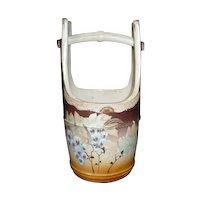 Japanese Vintage Satsuma Stoneware Pottery Ornament or Decorative Mizu- baketsu, Water Bucket