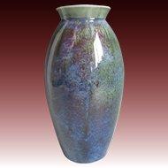 Japanese Kyo-yaki Kyoto Ware Vase by Famous Mitsuhiro Yamazaki II