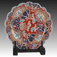 Japanese Antique Imari Porcelain Namasu 膾 Plate by the Great Aoki Family Kiln