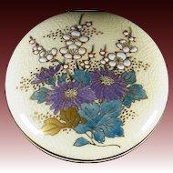 Japanese Vintage Satsuma ware Pottery Kogo Container by Shimadzu Iso-Oniwa-Gama