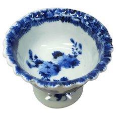 Japanese Antique Edo Imari-yaki 伊万里焼 Porcelain Scalloped Compote