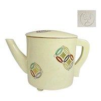 Japanese Awata Kyo-yaki Satsuma Pottery Yuto 湯桶 Teapot Water Pot signed Kakujin 覚人