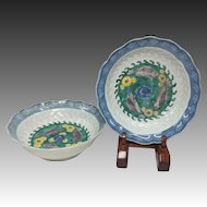 Japanese Antique Imari Porcelain Pair of Dishes as Reference Ware