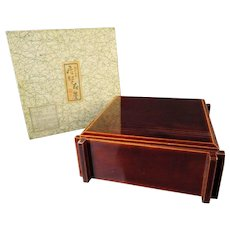 Japanese Vintage Hida Shunkei Shikki 漆器 or Lacqueware Bento Box