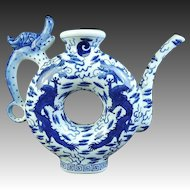 Chinese Vintage Porcelain Dragon Mizutsugi Suichu, Water or Tea Pot