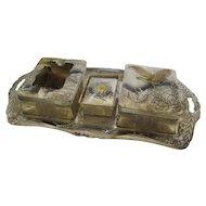 Japanese Vintage Tobacco -bon Set of Antimony
