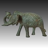 Chinese Vintage Copper Alloy Small Ornament of Elephant