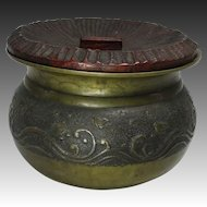 Japanese Antique Copper Kensui for Sado Nami Chidori Decoration