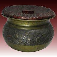 Japanese Antique Copper Kensui for Sado Nami Chidori Decoration