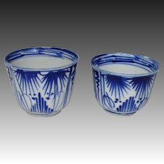Japanese Antique Imari Porcelain Rare pair Soba-Choko Cup