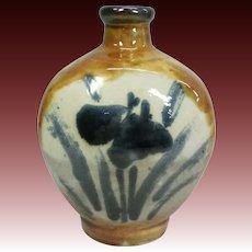 Japanese Vintage Tsuboya -yaki Pottery 壺屋焼 Mingei Hanaire  or Vase