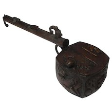 Japanese Antique Copper Yatate e-Goro or Incense Burner