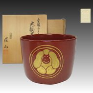 Japanese Vintage Kyoto's Awata Pottery Tsusugata Teacup by Kazan Okada