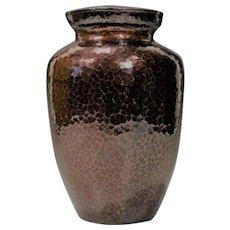Artist signed Japanese Vintage Copper Mokume Vase by Koho