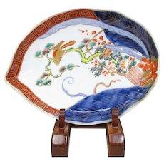 Nice Antique Japanese Imari Porcelain Unusual DIsh
