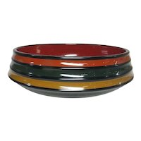 Japanese Vintage Lacquerware Dish Bowl by the famous Zohiko Nishimura