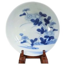 Japanese Antique Nabeshima Porcelain Dish with Chrysanthemum