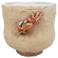 Japanese Vintage Suigetsu-yaki Pottery Yunomi- Teacup with Crab