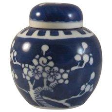 Japanese Antique Kyoyaki Kiyomizu Kyoto Porcelain  Chaki Chaire or a Tea Jar of Ume or Plum Flower Branch