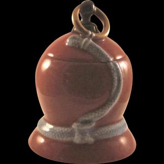 Japanese Mid-Century Arita Fukagawa-seiji 深川製磁 Porcelain Vintage Hyotan_Gourd  Shaped Cigarette Case, Trinket box