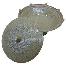 Japanese Vintage Seto Ware 瀬戸 Pottery Daiza bōru or Pedestal Bowl - Red Tag Sale Item