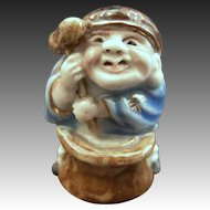 Japanese  Antique Hirado Porcelain  Ornament or Figurine of a Daikoku 大黒