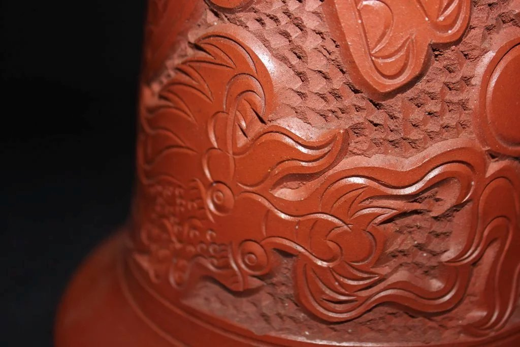 Chinese Red Clay Dragon Planter Or Large Vase : The Many