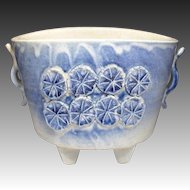 Japanese Vintage Kiyomuzu-yaki Kyoto Ware Pottery of Suiban for Ikebana Flower Arrangement