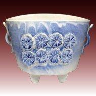 Japanese Vintage Kiyomuzu-yaki Kyoto Ware Pottery of Suiban for Ikebana Flower Arrangement