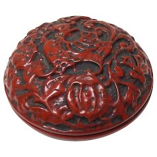 Fine Old Chinese Vintage Lacquer Ware Tsuishu Cinnabar Case