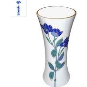 Signed Vintage Koransha Porcelain Vase of Japanese Bell Flowers