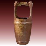 Vintage Japanese  Bizen Ware 備前  Mizu baketsu Water Pail by Famous Potter  Amakawa Tousyouen