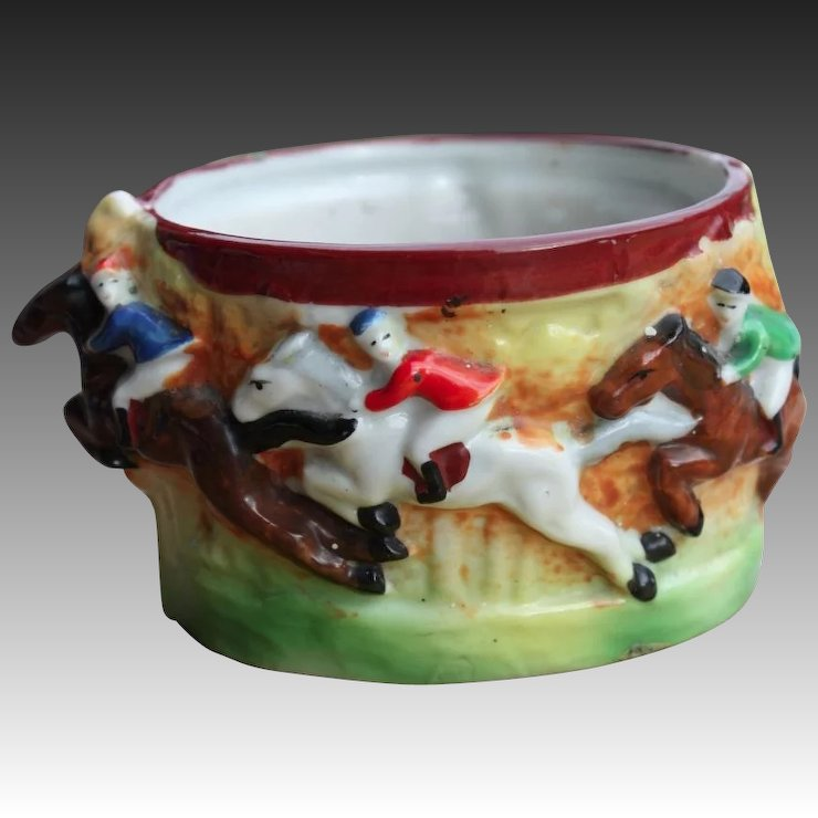 Japanese Early 20th century Tea Cup of Horse Riders by Maruyama Toki ...