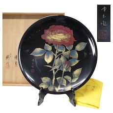 Japanese Vintage  Wajima-nuri 輪島塗 Large Lacquerware Platter