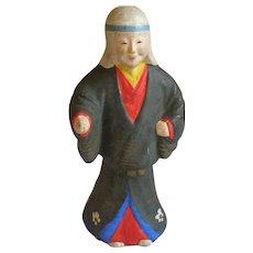 Japanese Tsuchi-Ningyo 土人形  or Folk Art Clay Doll of Yūrei 幽霊 the Samurai  Ghosts