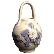 Beautiful Antique Japanese Hirado 平戸  Bucket or  Vase w/ Handle